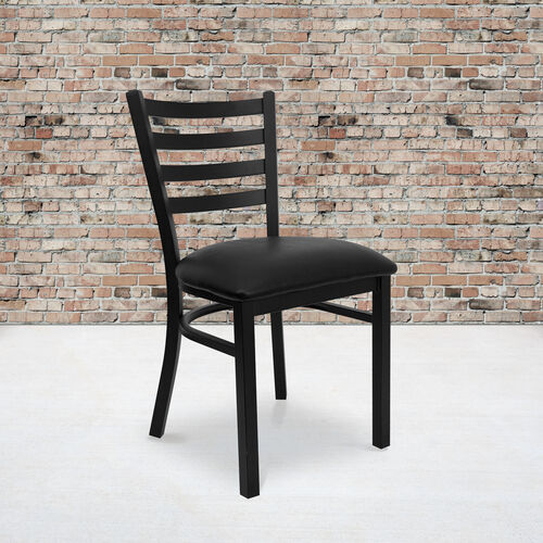 Our Black Ladder Back Metal Restaurant Chair is on sale now.