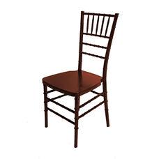 1000 lb. MAX Mahogany Resin Steel Core Chiavari Chair