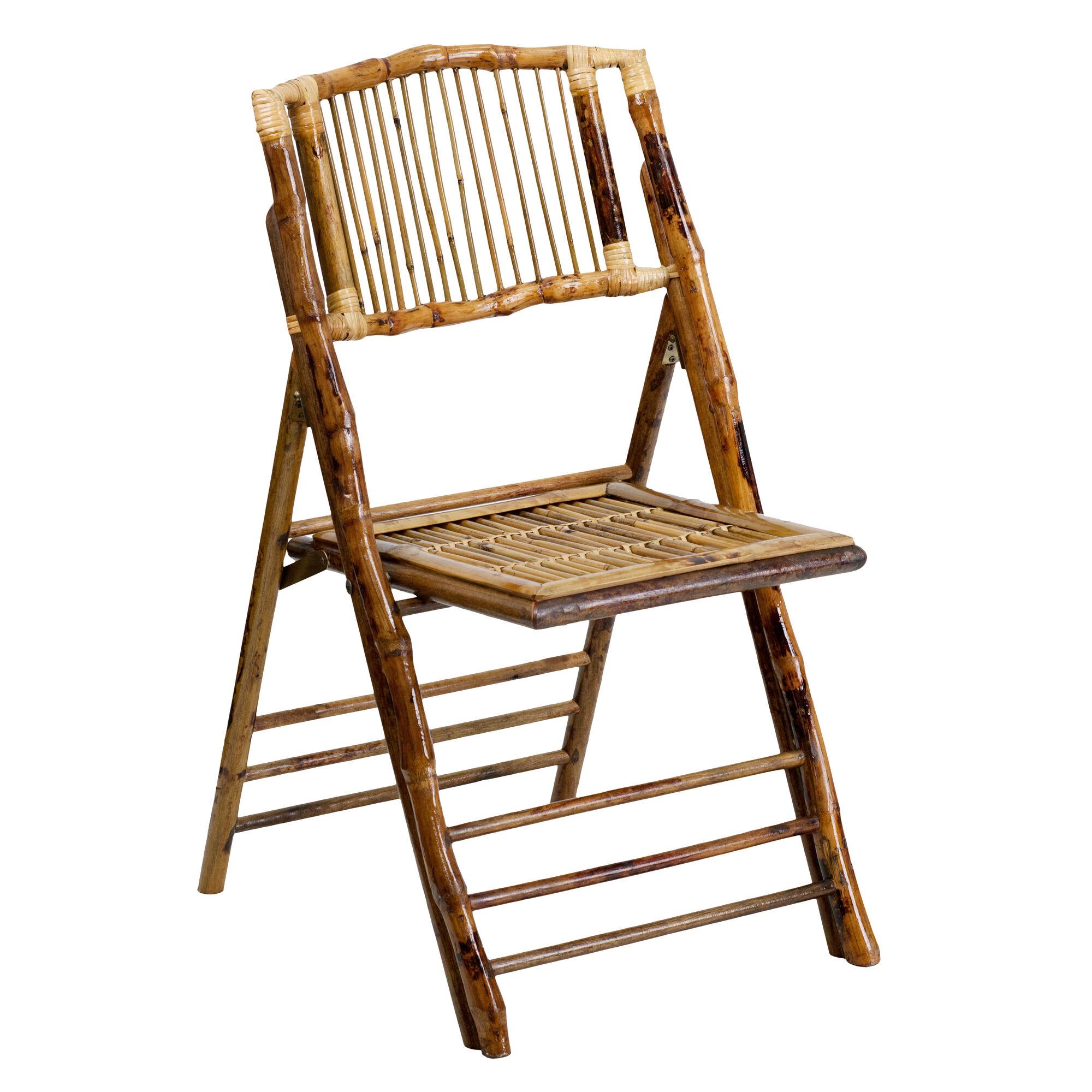 Bamboo Folding Chair X 62111 Bam Gg