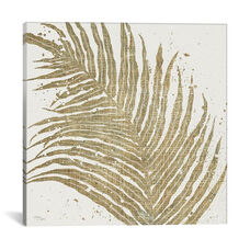 Gold Leaves I by Wellington Studio Gallery Wrapped Canvas Artwork