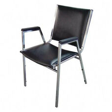 Lorell Plastic Arm Stacking Chairs - Set of 4