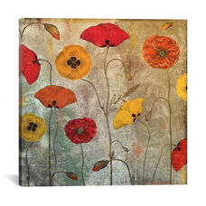 Dancing Poppies by Color Bakery Gallery Wrapped Canvas Artwork