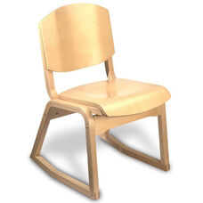 Campus 2-Position Armless Guest Chair - Wood Seat
