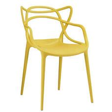 Masters Polypropylene Dark Olive Modern Stackable Arm Chair - Set of 4