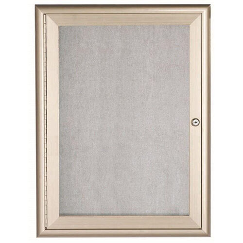 Our 1 Door Enclosed Bulletin Board with Aluminum Waterfall Style Frame - Silver - 36