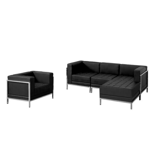 Our HERCULES Imagination Series Black LeatherSoft Sectional & Chair, 5 Pieces is on sale now.