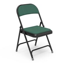 Multi-Purpose Steel Folding Chair with Sedona Loden Fabric Pads and Black Frame - 17.75''W x 18.75''D x 29.5''H