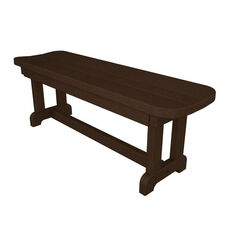 POLYWOOD® Commercial Collection Park Backless Bench - Mahogany