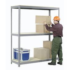 Gray Wide Span Storage Rack Wood Deck - 36