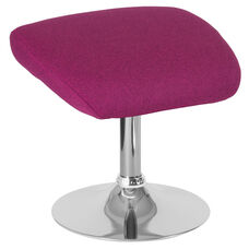 Egg Series Magenta Fabric Ottoman