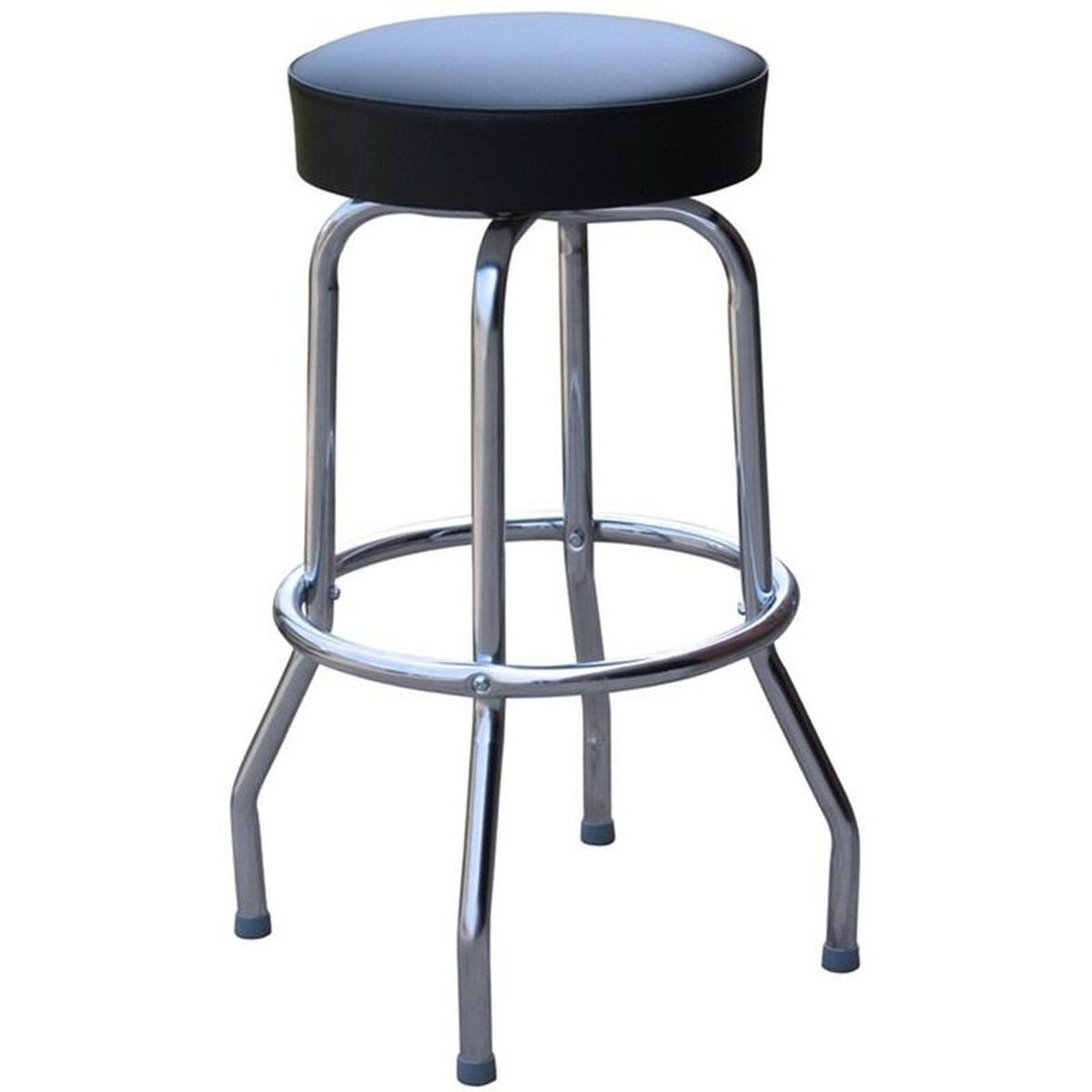 Black Vinyl Swivel Barstool 0 1950blk24 Restaurantfurniture4lesscom