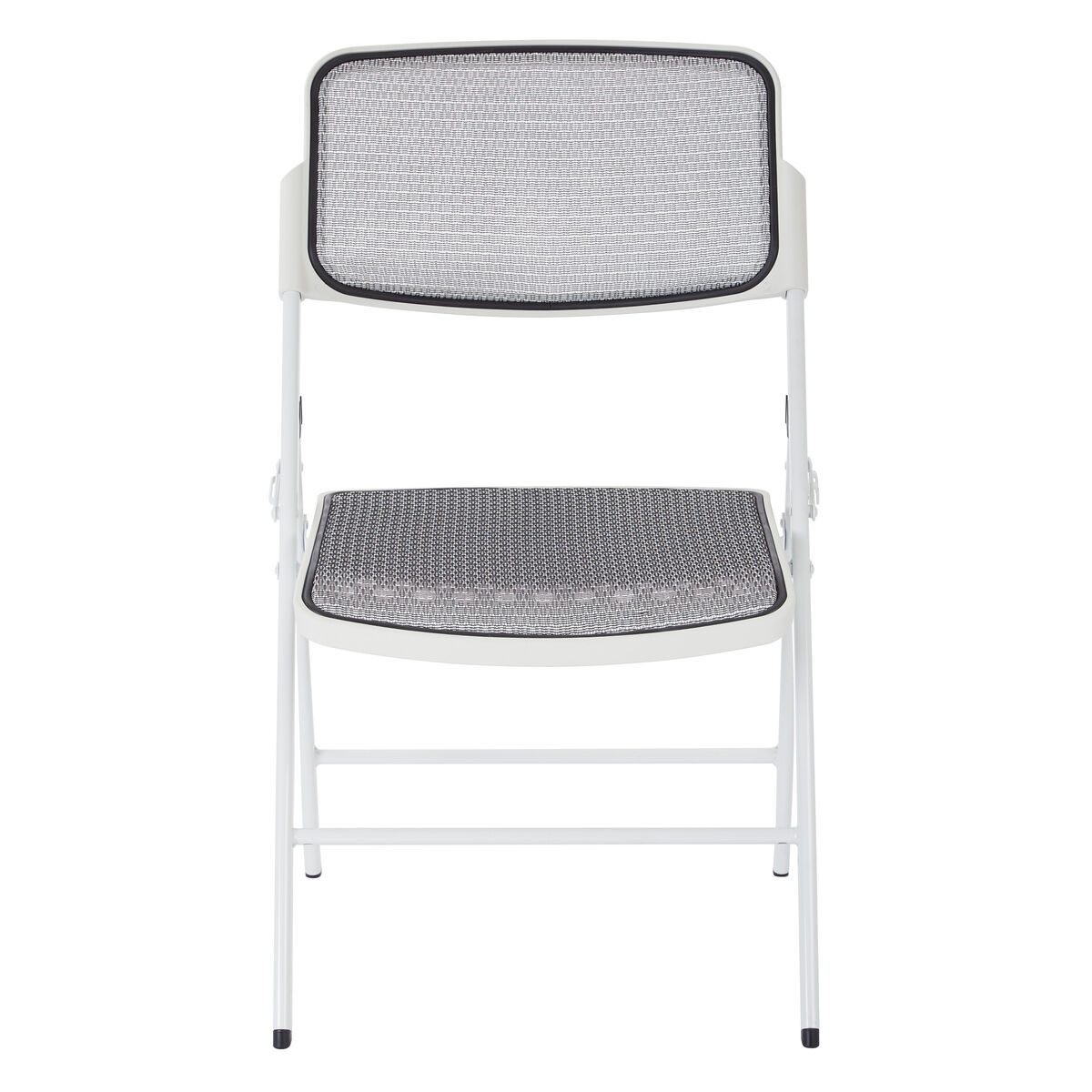 Astonishing Pro Line Ii Deluxe Progrid Mesh Seat And Back Folding Chair With 400 Lb Weight Capacity Set Of 2 White Gmtry Best Dining Table And Chair Ideas Images Gmtryco