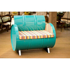 Topsail Steel Drum Armchair with Multicolor Accents