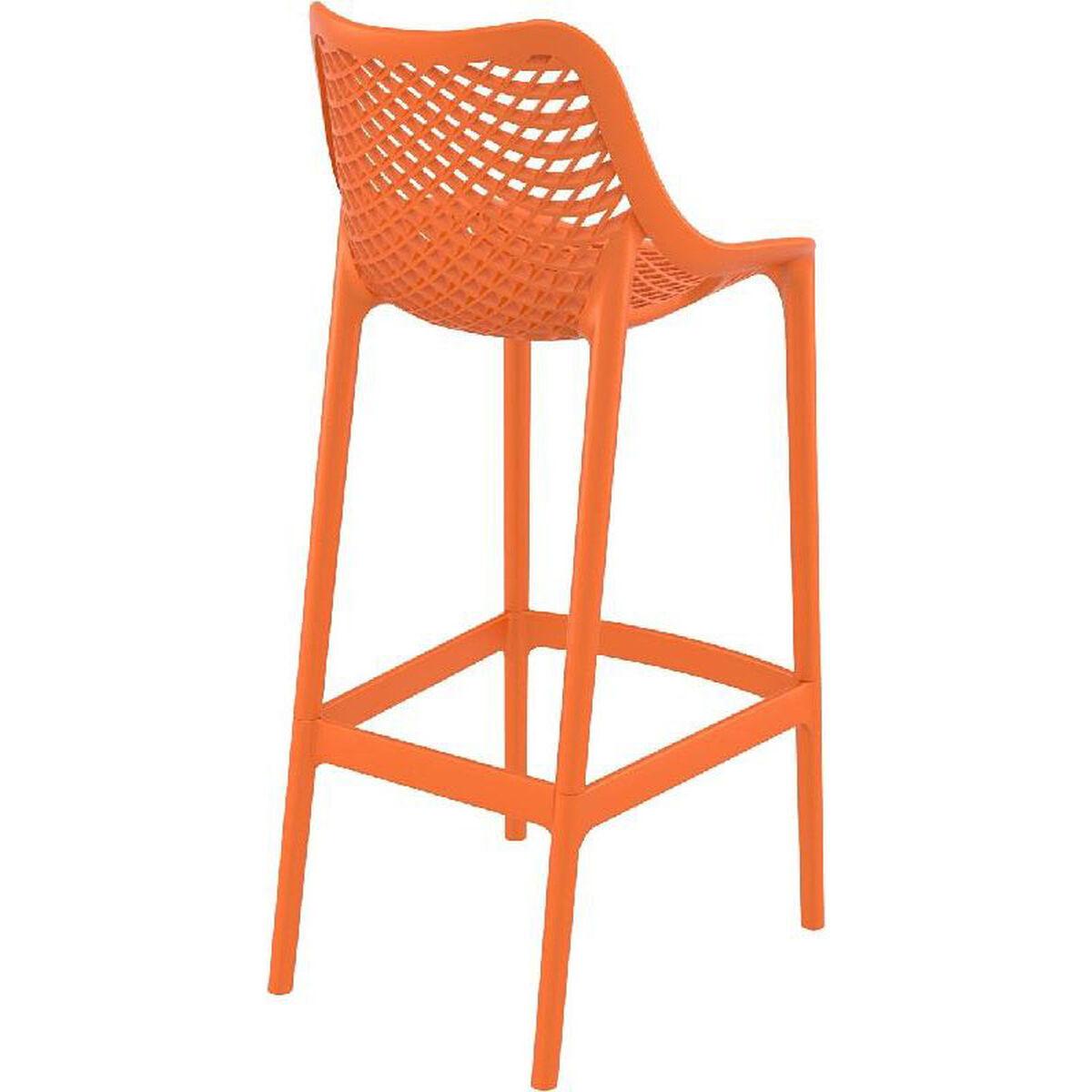 Orange Resin Outdoor Barstool Isp068 Ora Restaurantfurniture4less Com