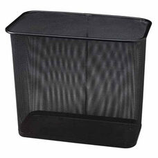 Rubbermaid Commercial Products Steel Mesh Rectangle Wastebasket - 9.7
