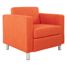 Ave Six Pacific Arm Chair with Chrome Finish Legs - Tangerine