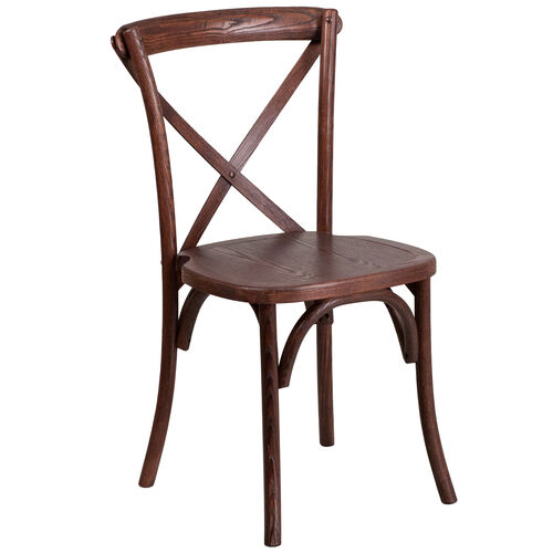 Our HERCULES Series Stackable Mahogany Wood Cross Back Chair is on sale now.
