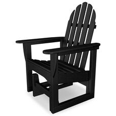 POLYWOOD® Adirondack Collection Glider Chair - Black