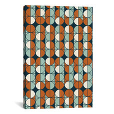 Retro Pattern by Flatowl Gallery Wrapped Canvas Artwork
