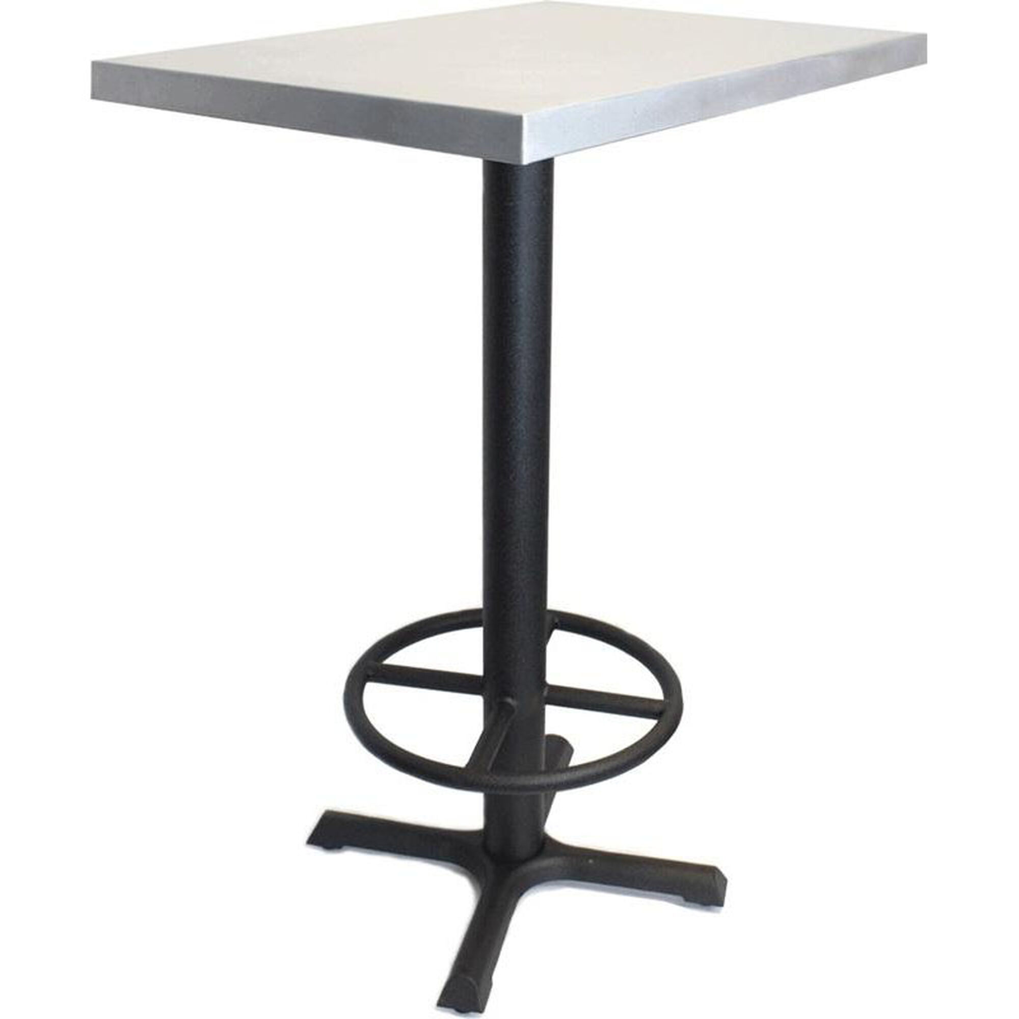 Jackson Rectangular Table With Metal Base: Mio Metals Rectangular Zinc Table With Bar Height Black