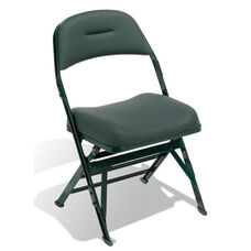 Contour Series Upholstered Seat and Back 19.5'' W Folding Chair with Manual Uplift Seat
