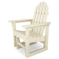 POLYWOOD® Adirondack Collection Glider Chair - Sand