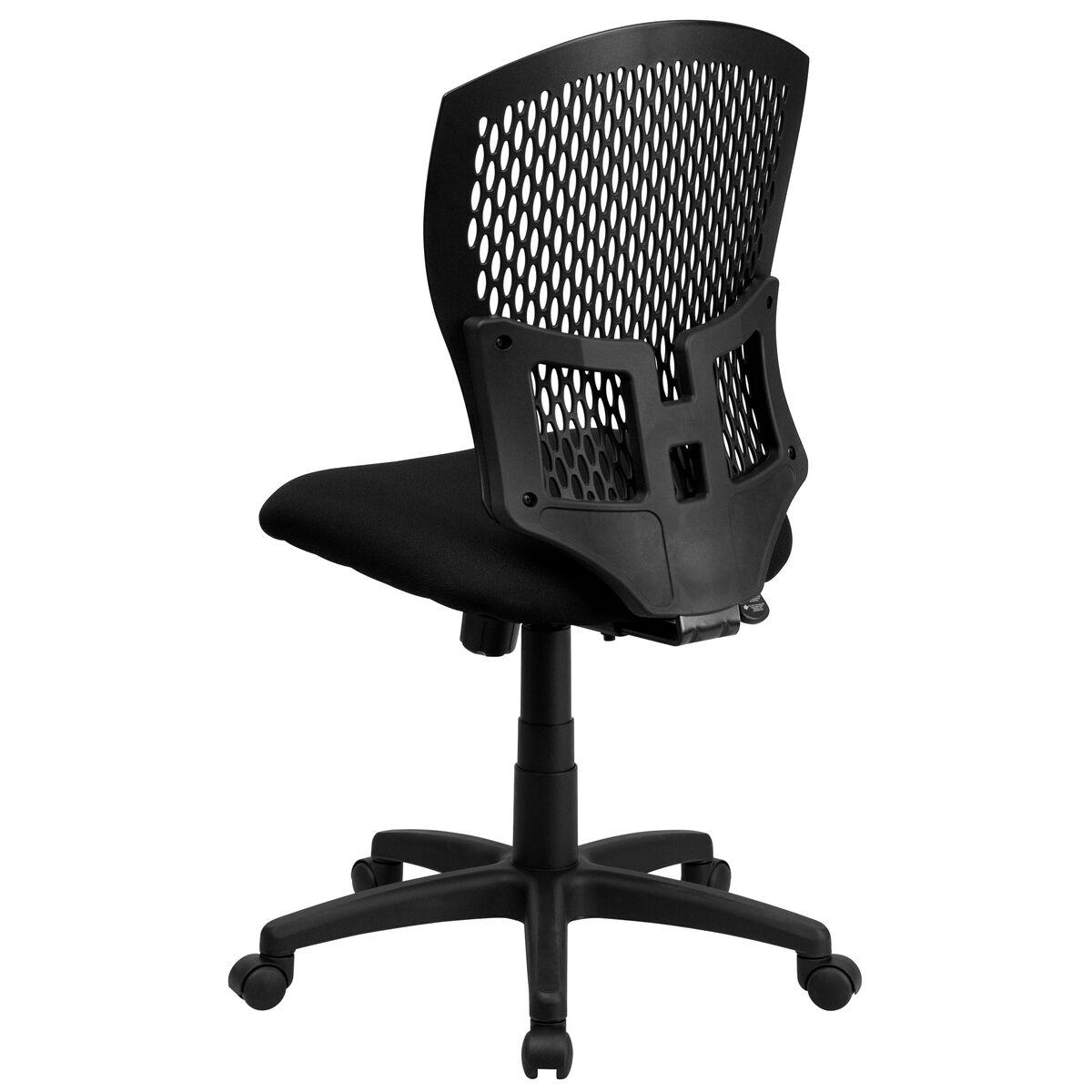 Black mid back task chair wl syg bk gg