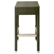 Naples Aluminum Backless Outdoor Barstool with Footrest- Indo Coffee