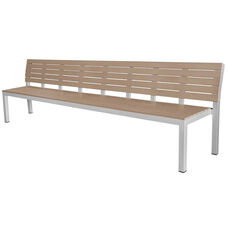 Vienna Highback 5 Seater Bench - Gray