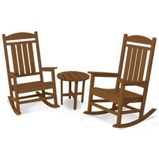 POLYWOOD® Presidential 3-Pc. Rocker Set - Teak