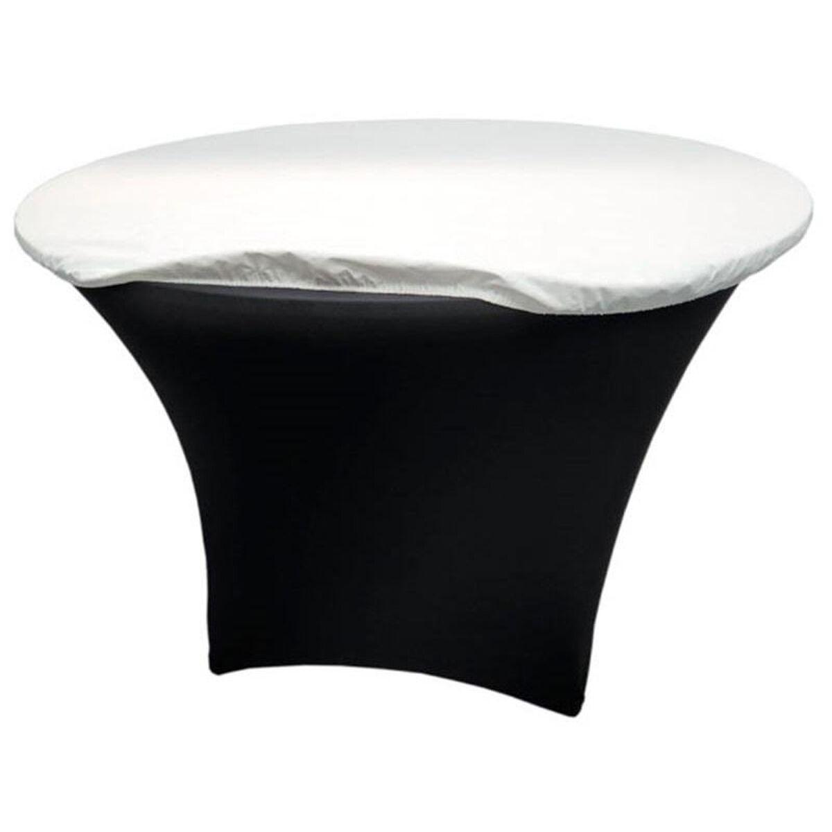 Snap drape round vinyl felt back table padding white for Html table padding