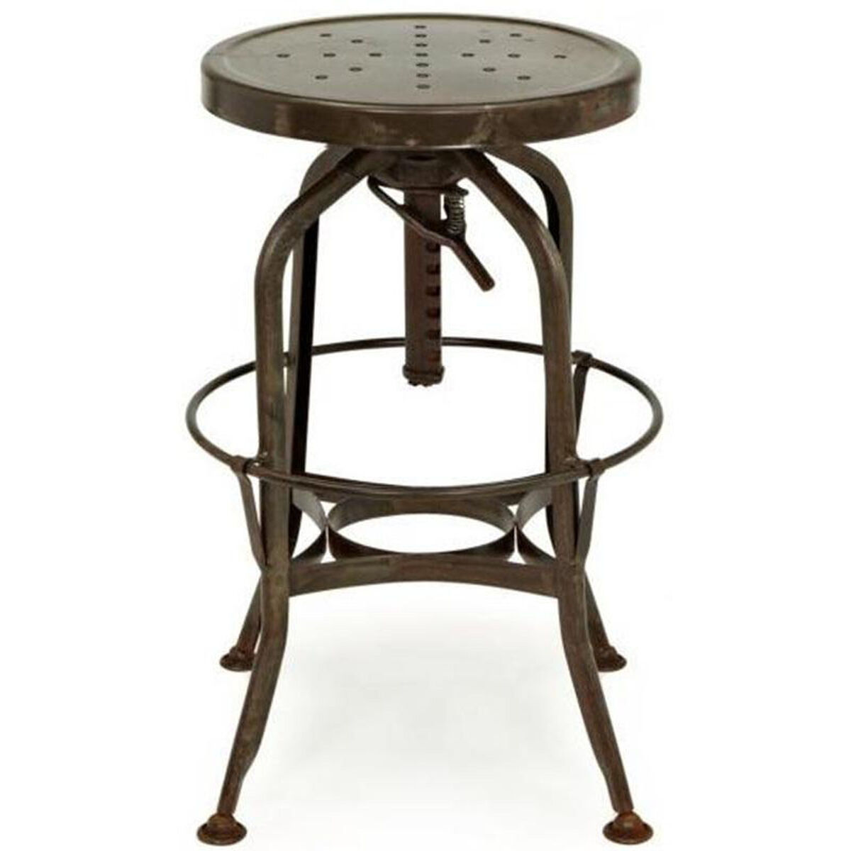 Design Lab Mn Toledo Rustic Adjustable Backless Barstool