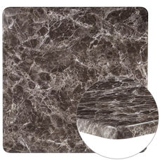 """36"""" Square Gray Marble Laminate Table Top"""