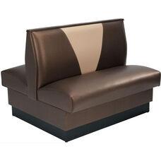 36''H Upholstered V-Shaped Back Double Sided Booth - Grade 5 Vinyl