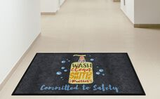 """Committed to Safety"" Message Floor Mat - 35"