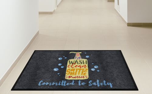 "Our ""Committed to Safety"" Message Floor Mat - 35"