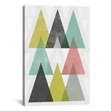 Mod Triangles IV by Michael Mullan Gallery Wrapped Canvas Artwork