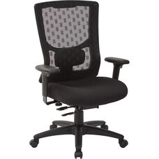 Pro-Line II ProGrid Checkered Mesh Back Office Chair with 2-Way Adjustable Arms - Coal