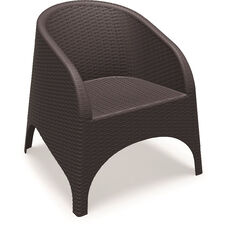 Aruba Wickerlook Resin Club Arm Chair - Brown