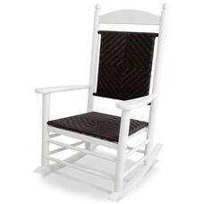 POLYWOOD® Jefferson Woven Rocker - White Frame / Cahaba