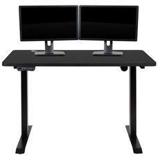 "Electric Height Adjustable Standing Desk - Table Top 48"" Wide - 24"" Deep (Black)"