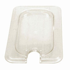 Ninth Size Slotted Cover for Polycarbonate Food Pan in Clear