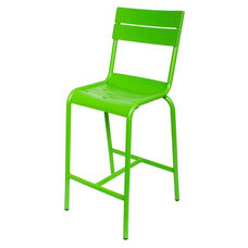 Beachcomber Stackable Outdoor Aluminum Armless Barstool - Lime