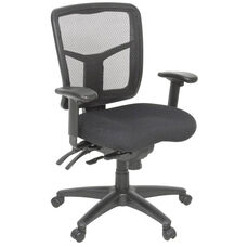 Kiera Fully Adjustable Mesh Back Swivel Chair with Casters - Black