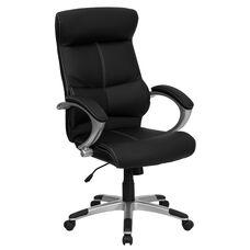 High Back Black Leather Executive Swivel Chair