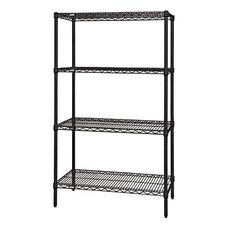 Black Wire Shelving 4-Shelf Starter Units 36