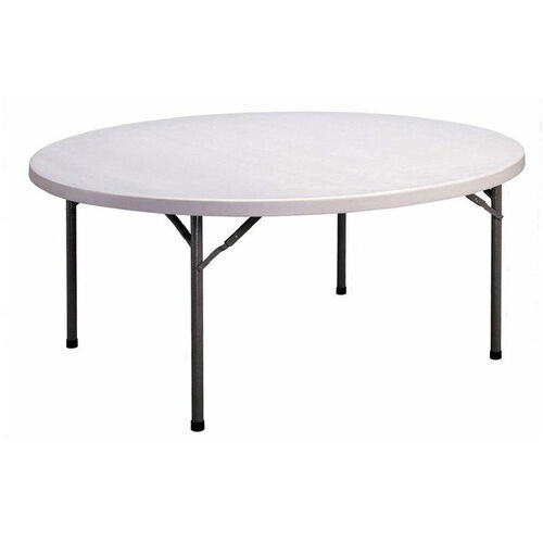 Our Economy Blow-Molded Round Plastic Top Folding Table - 71