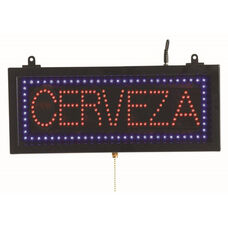 High Visibility LED CERVEZA Sign - 6.75