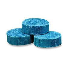 Genuine Joe Toss Blocks with Blue Dye - Non -Para - 12 per pack - Cherry Scent -Blue