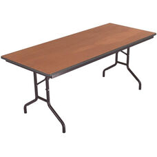 Sealed and Stained Plywood Top Table with Vinyl T - Molding Edge - 30''W x 72''D x 29''H